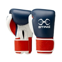 STING - Evolution Bag/Fight Glove - Black/Gold-12oz-Velcro