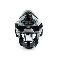 WACOKU - Dipped Head Gear/Guard - Black - Detachable Clear Face Grill - Small