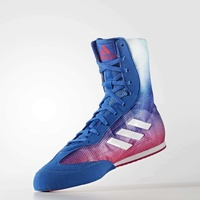 ADIDAS - Box Hog Plus Boxing Boots Blue/Pink - Size 9