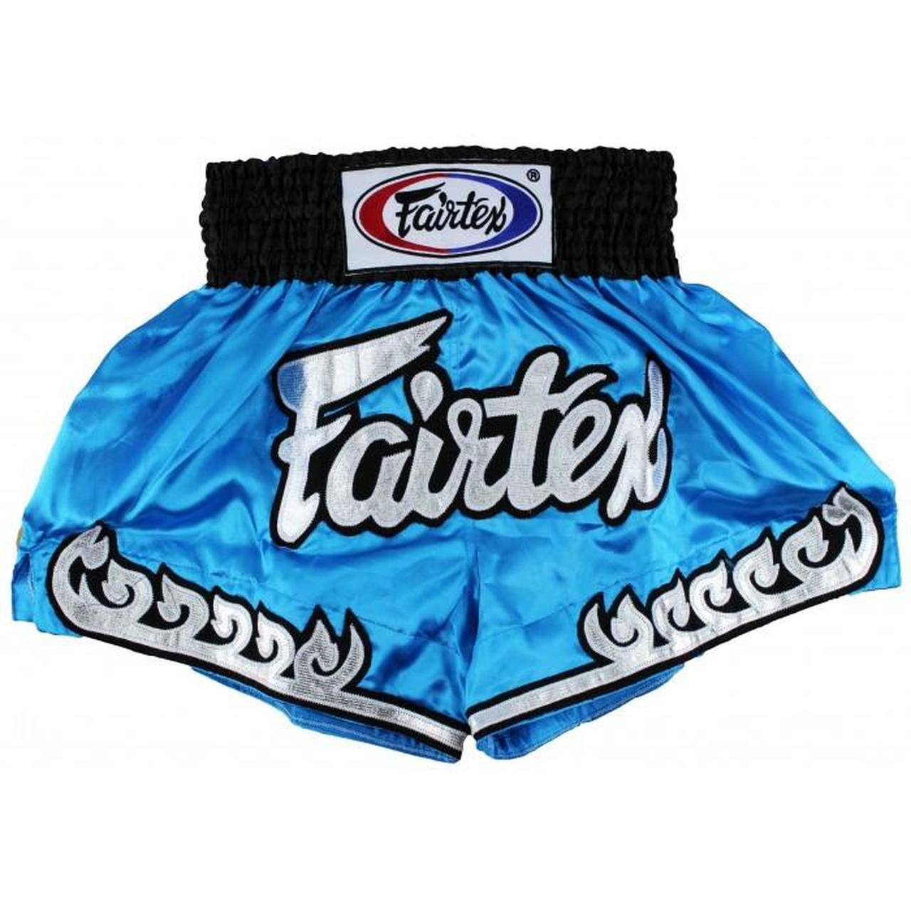 FAIRTEX - Blue Thai Flame Muay Thai Boxing Shorts (BS0631) - Small