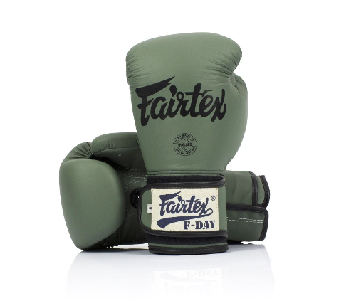 FAIRTEX - F-Day Limited Edition Army Green Boxing Gloves (BGV11) - 8oz