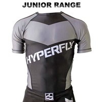 HYPERFLY - Kids Rash Guard - Short Sleeve/Grey