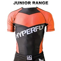 HYPERFLY - Kids Rash Guard - Short Sleeve/Orange