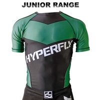 HYPERFLY - Kids Rash Guard - Short Sleeve/Green