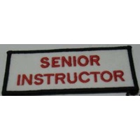 Badge - Senior Instructor - White/Red/Black