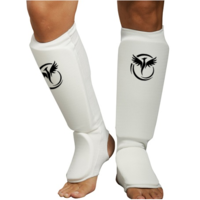 CSG Cloth Shin/Instep Guards - White