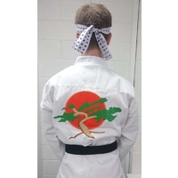 Karate Kid Daniel San Costume - With Bonsai Embroidery