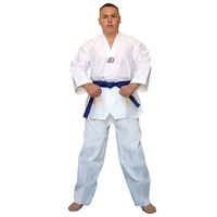 ECONOMY - White V Non-Ribbed TaeKwondo Dobok/Uniform