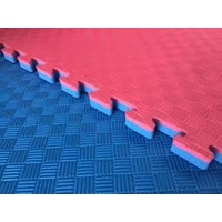 Martial Arts Jigsaw Mat - 30mm - 5 Stripe Finish - Red/Blue