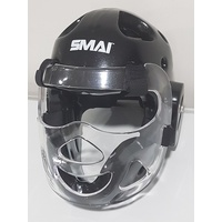 SMAI - Dipped Head Guard - Black - Detachable Clear Mask