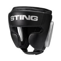STING - Armaplus Full Face Headgear - Black/Silver