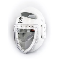 WACOKU - Dipped Head Gear/Guard - White - Fixed Clear Face Shield - WT Approved