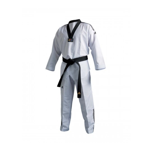 ADIDAS - Fighter III With Stripes Taekwondo Dobok/Uniform - WT Approved - 200cm
