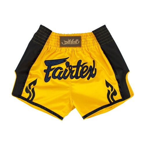 FAIRTEX Yellow Slim Cut Muay Thai Boxing Shorts (BS1701) - Small