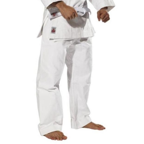 RISING SUN - 14oz Shoto Canvas Karate Pants - White/Size 7