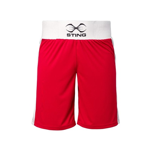 STING - Mettle Junior AIBA Approved Boxing Shorts - Red/10